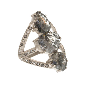 The Grey Diamond Vertebrate Ring