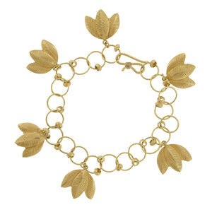 The Lotus Leaf Charm Bracelet
