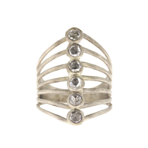 The Six-Stone Diamond Vertebrate Ring