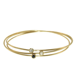 Three Part Diamond Bangle