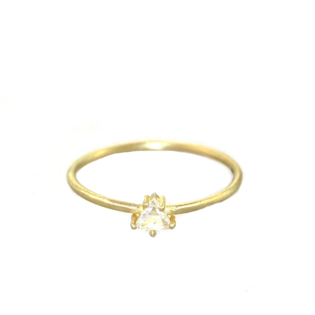The Petite Triangle Diamond Ring