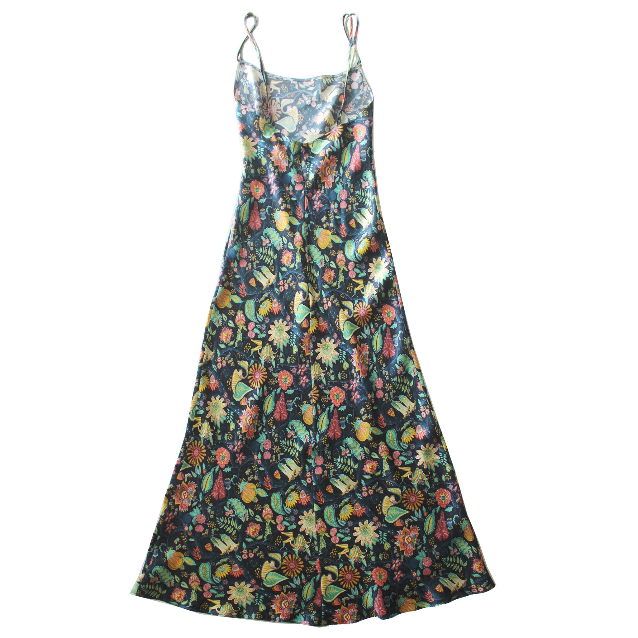Juno Slip in Tree of Life Liberty Print Silk Satin