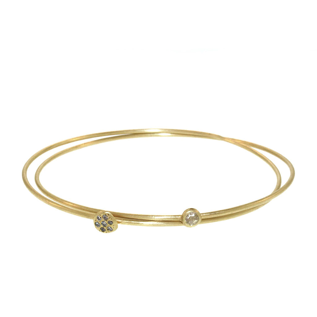 Two Part Diamond Entwined Bangle