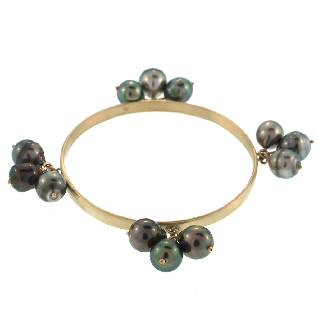The Pearl Cluster Bangle