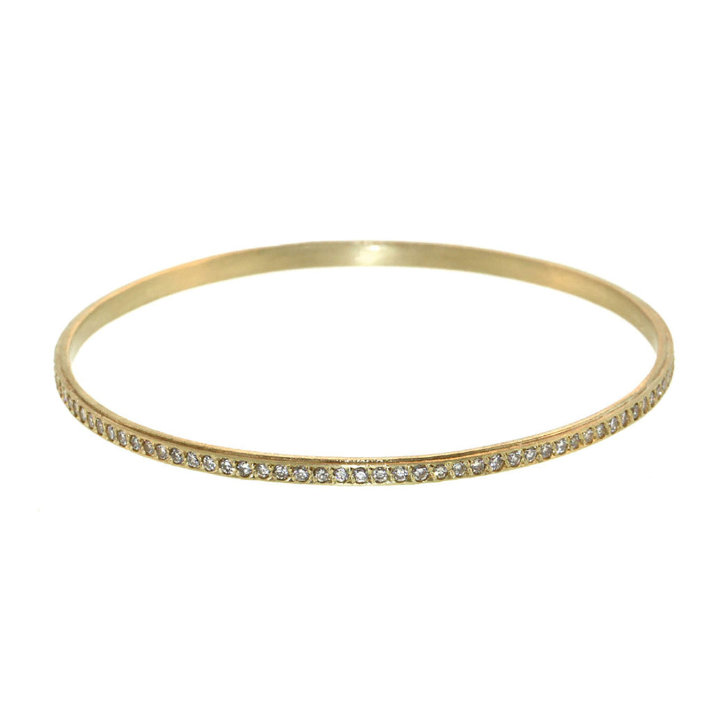 The Slim Diamond Striped Bangle