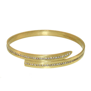The Pavé Diamond Wrap Bangle