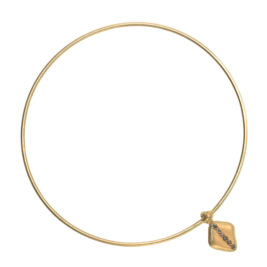 The Diamond Striped Disc Bangle