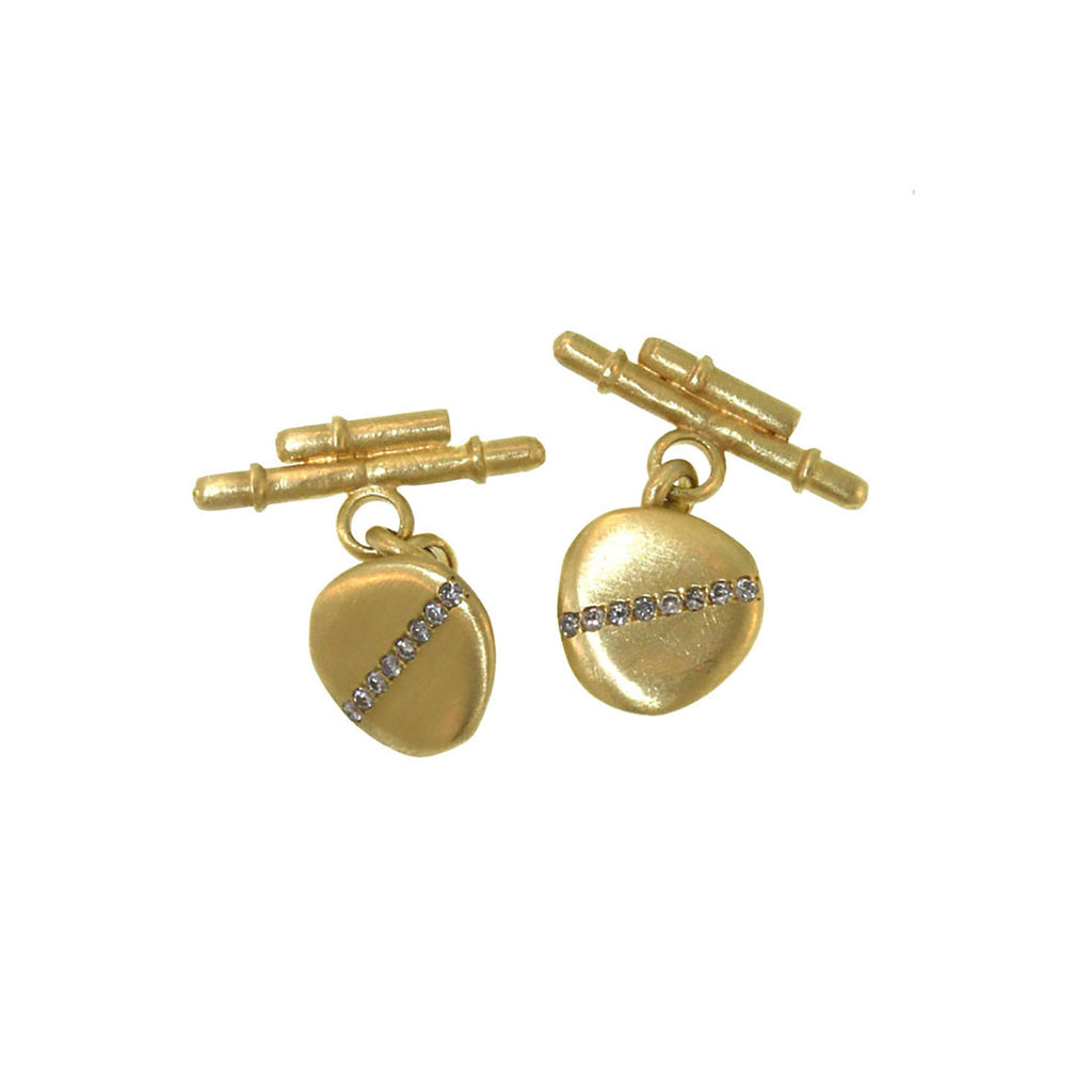 Pavé Diamond Disc Cufflinks