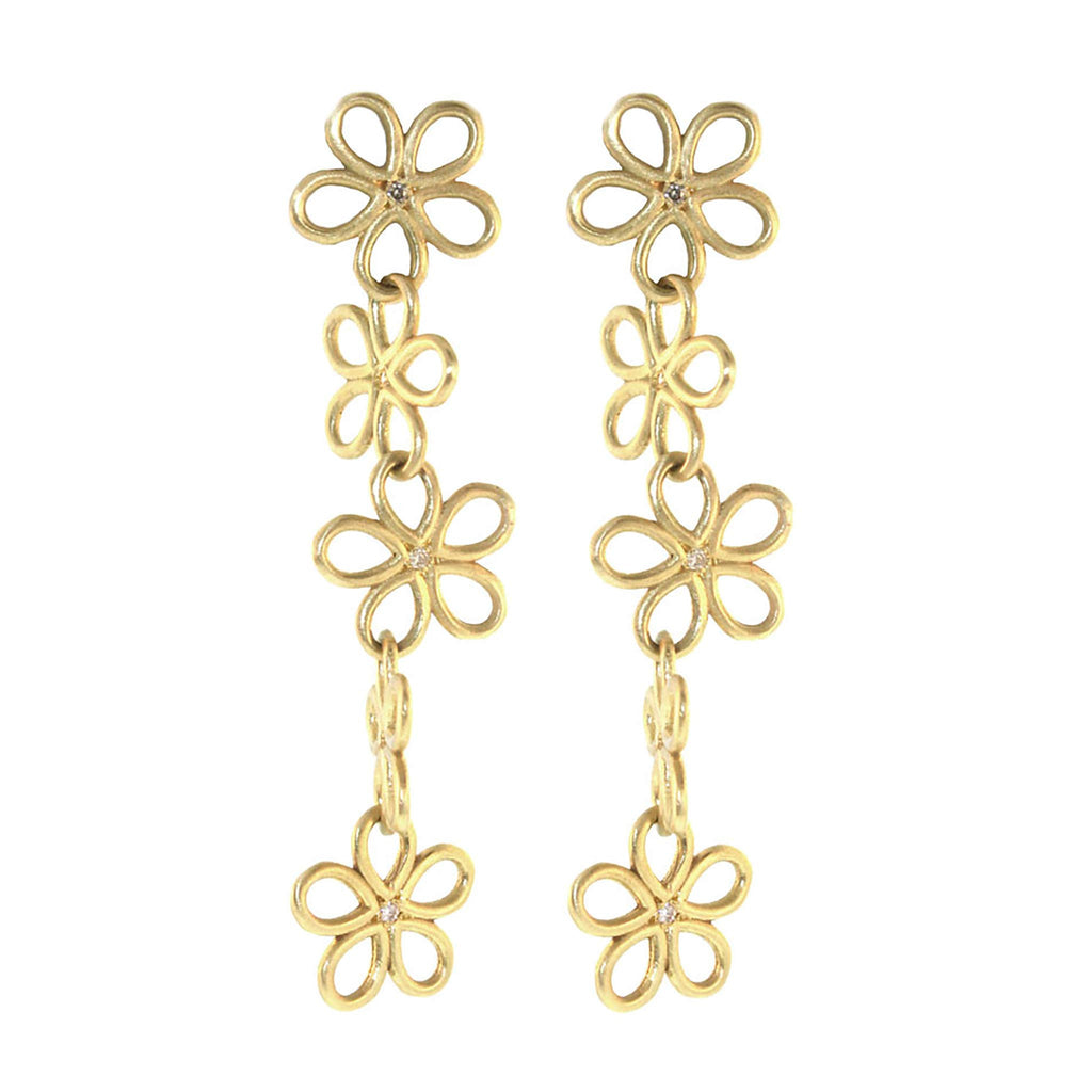 The Long Daisy Drop Earrings