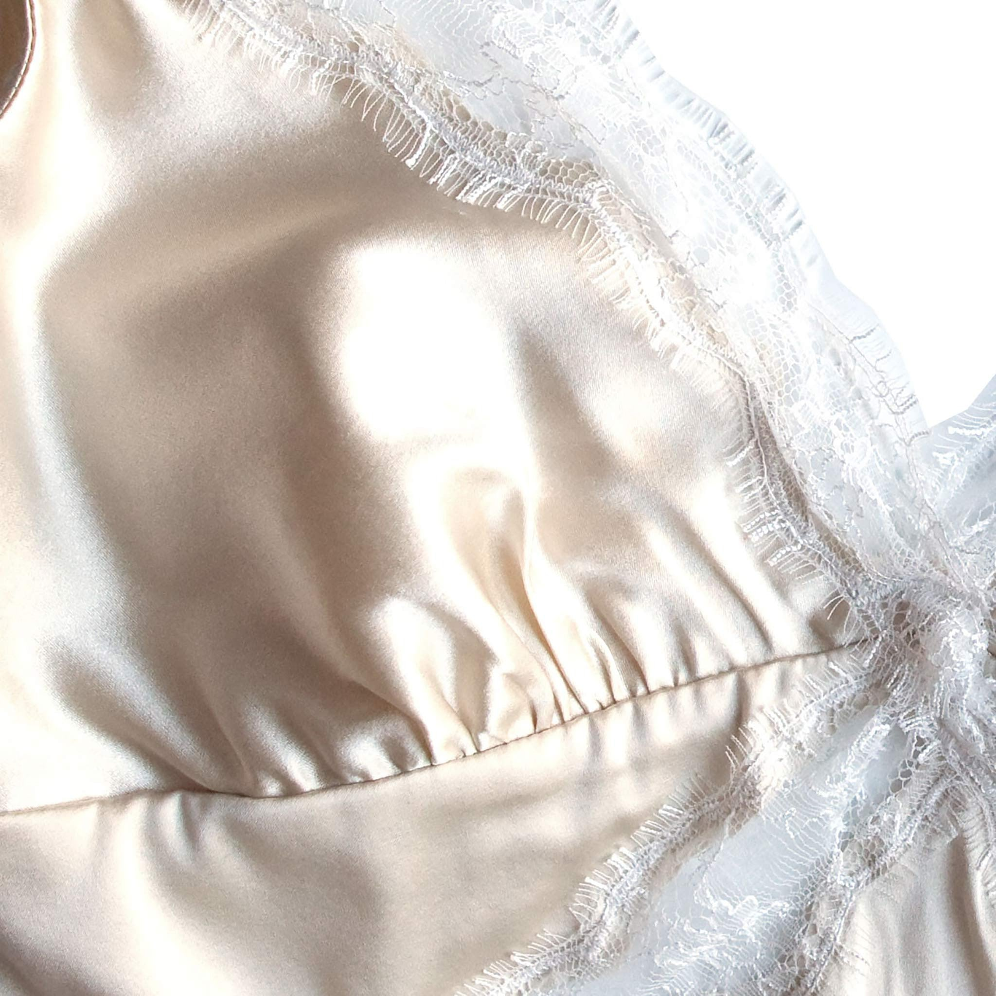 Gaia Bralette in Pearl Stretch Silk Charmeuse