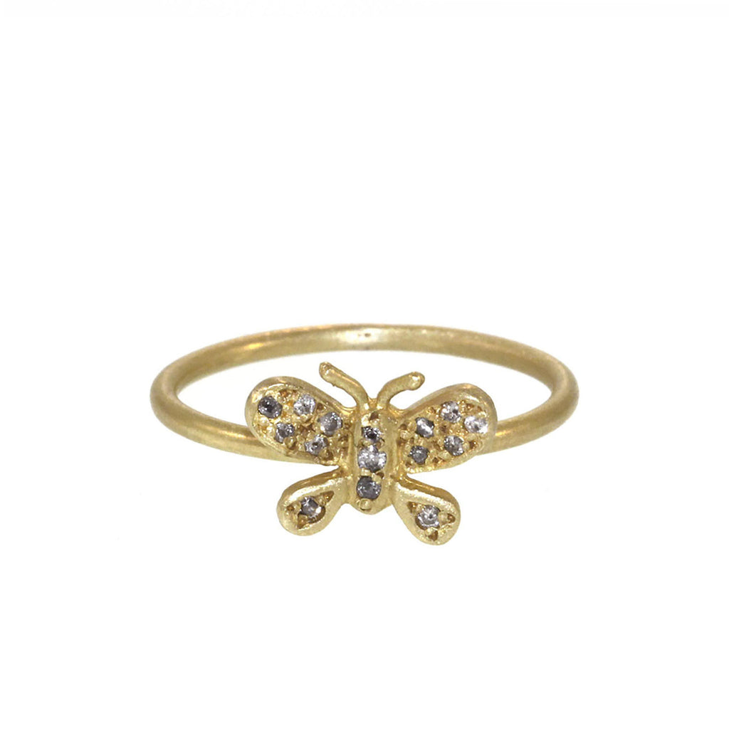 The Diamond Butterfly Ring