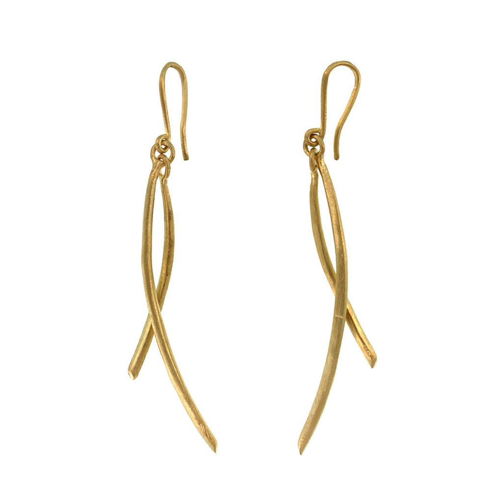 The Double Arc Drop Earring