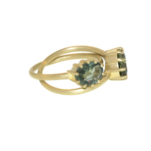 The Oval Green Tourmaline Entwined Ring