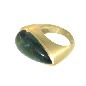 The Tourmaline Cabochon Queen's Ring