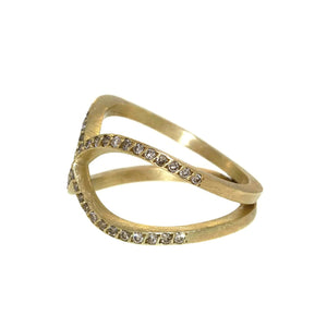 The Pavé Diamond Infinity Ring