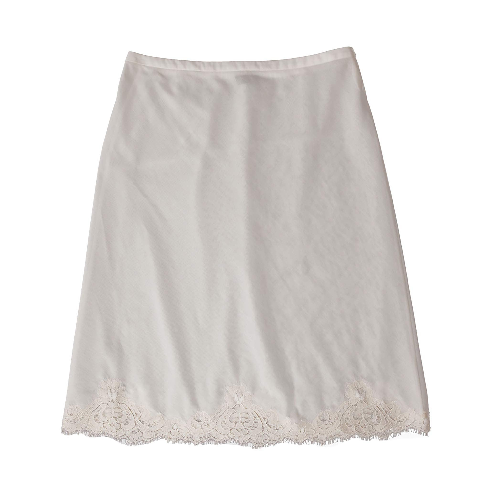 Kali Half Slip in Swiss Cotton Voile with Lace