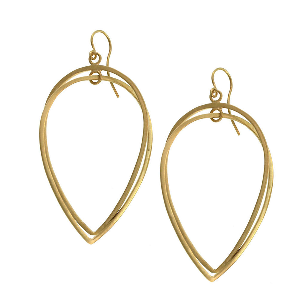 The Large Double Pear Loop Earring