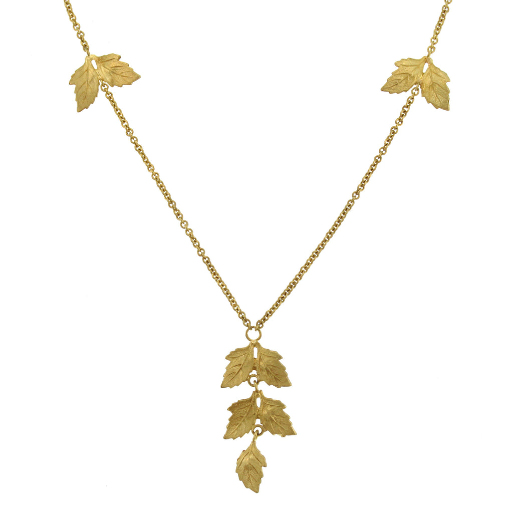 The Twin Oak Leaf Charm Necklace