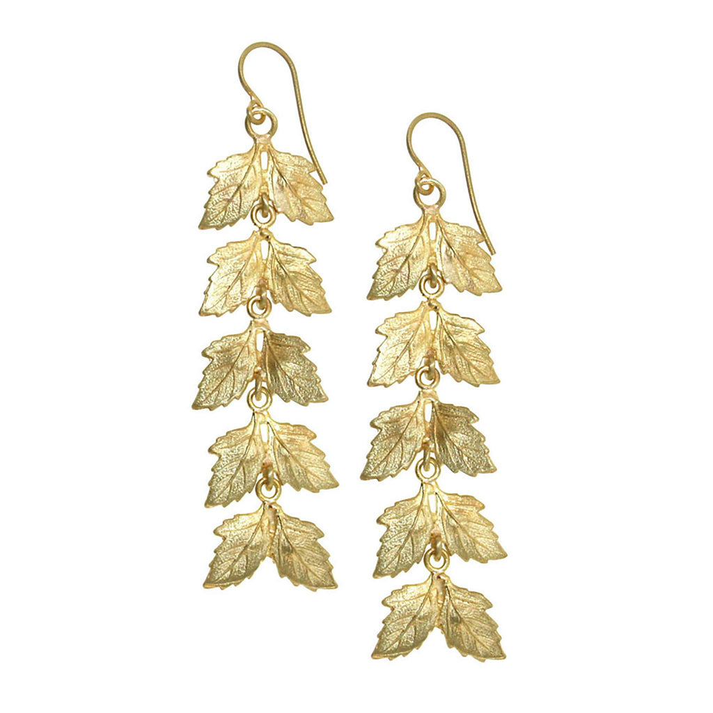The Long Leaf Drop Earring