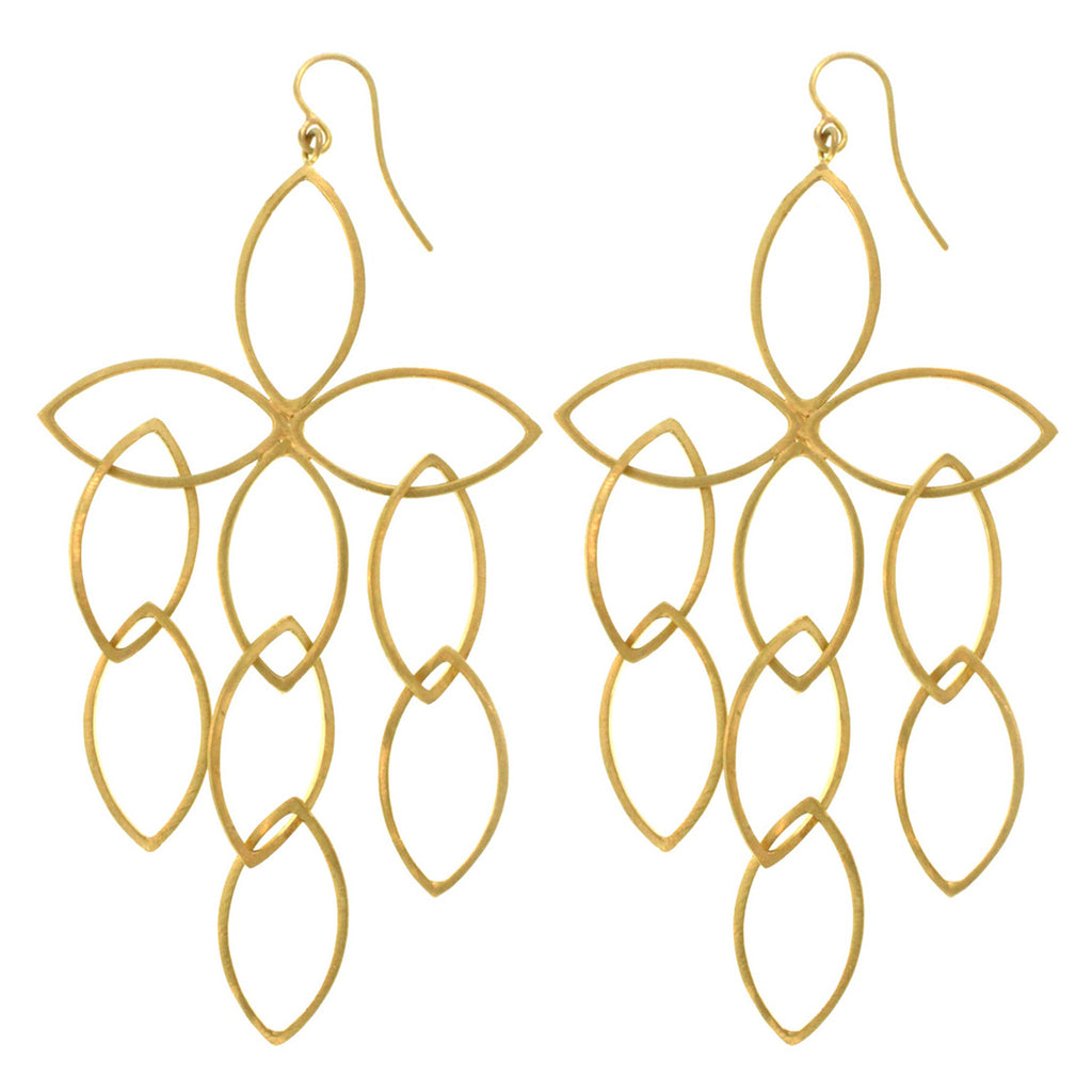The Open Marquise Flower Cluster Earring