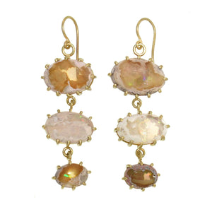 The Triple Matrix Opal Earrings