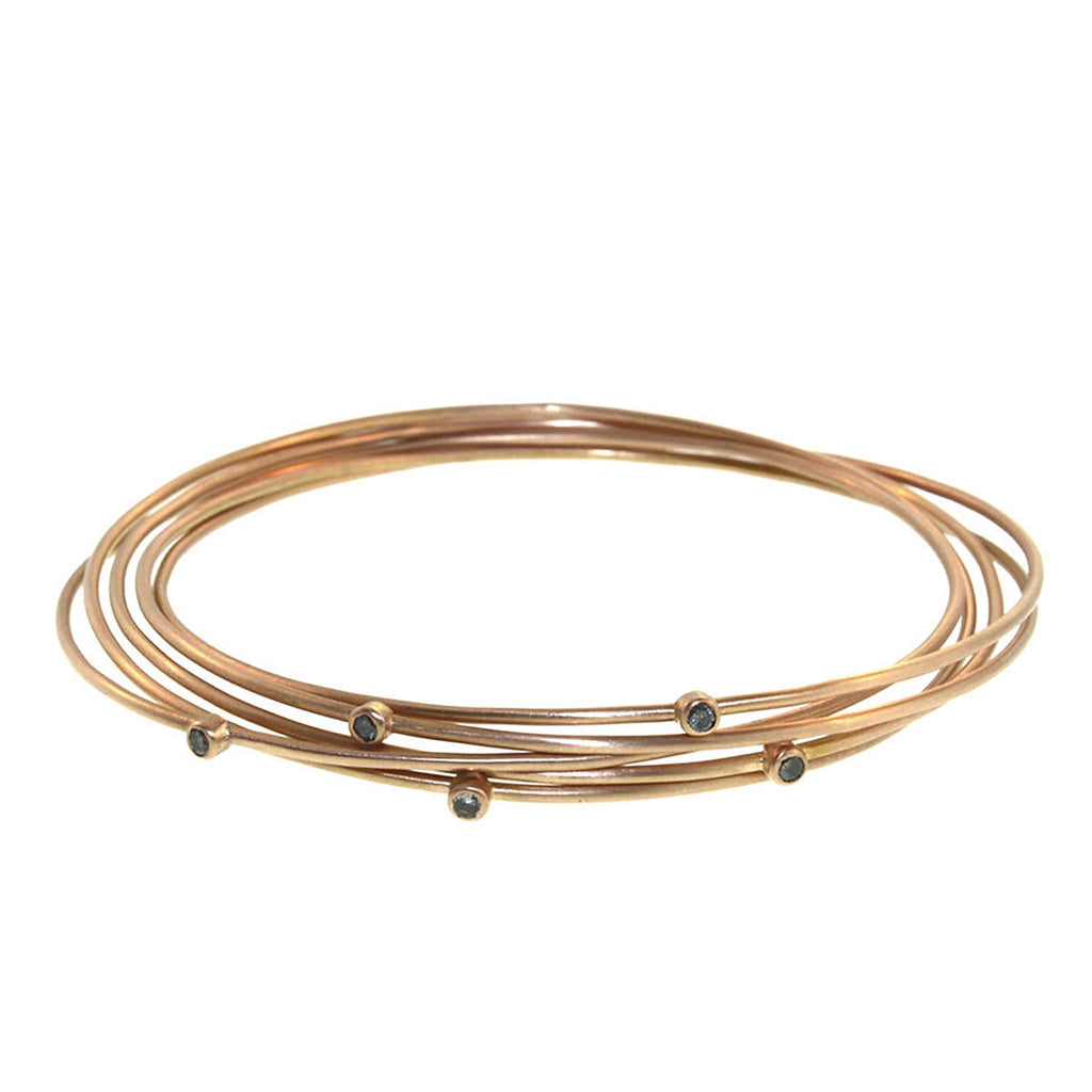 The Diamond Five Part Lucky Star Bangle
