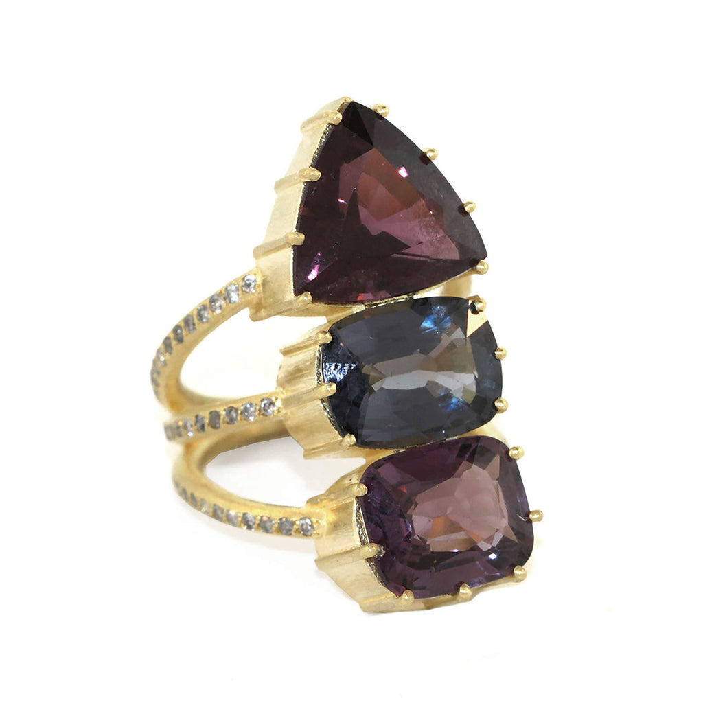 The Spinel + Diamond Vertebrate Ring