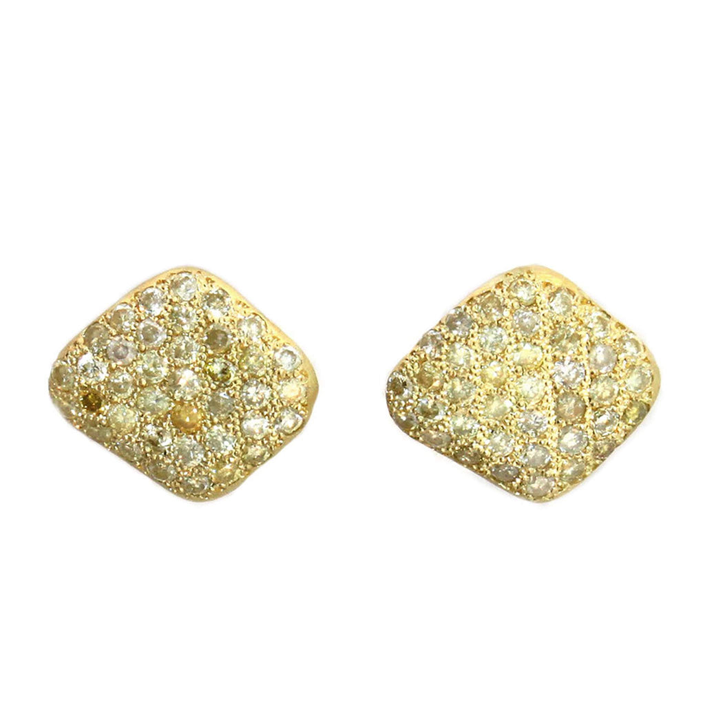 The Pavé Diamond Disc Stud