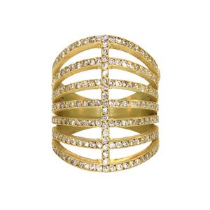 The Diamond Corset Ring