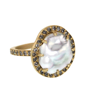 The Pearl and Diamond Georgianna Ring