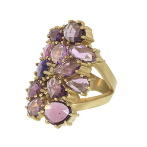 The Pink Sapphire Cluster Ring