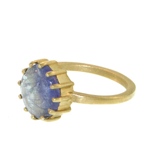 The Round Blue Tanzanite Ring