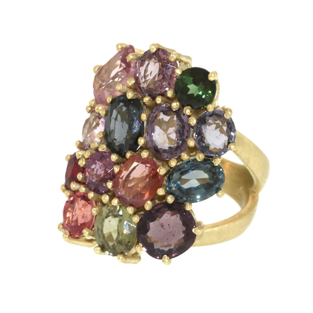 The Garden Party Spinel Cluster Ring