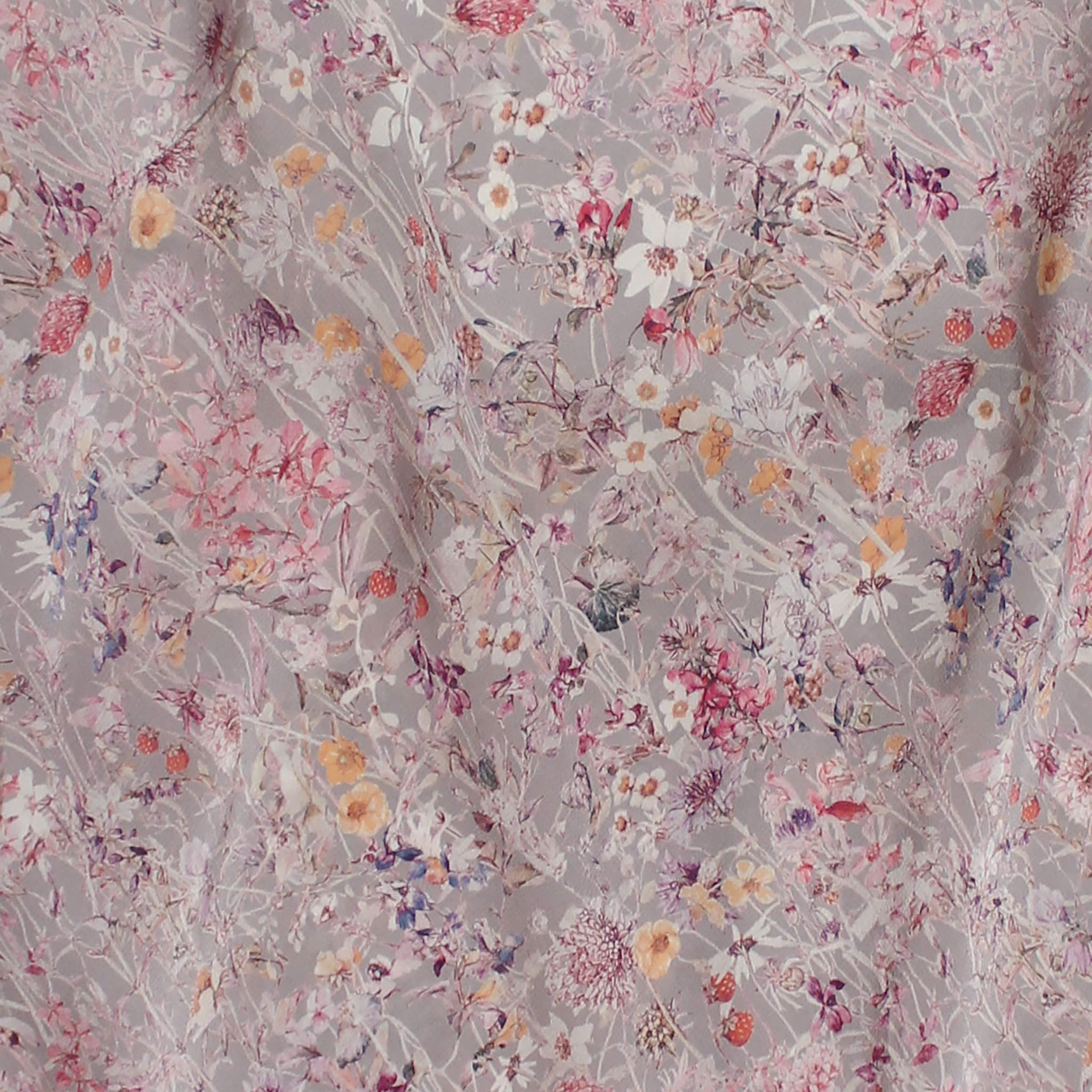 Olwen Camisole in Silver Wildflowers Liberty Print Silk Crepe de Chine
