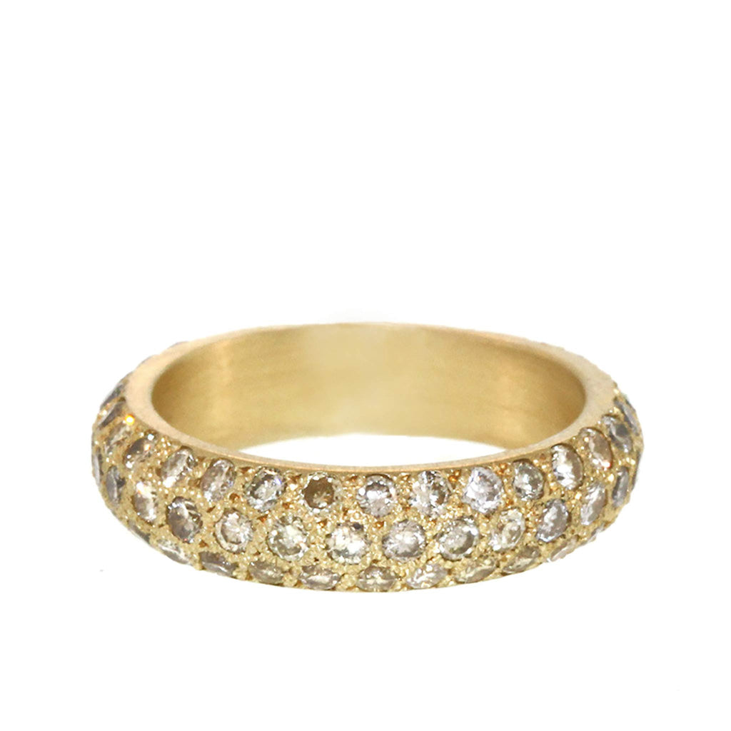 The Brilliant Diamond Triple Row Pavé Band