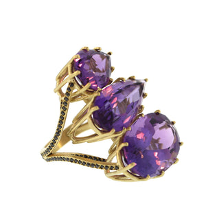 The Amethyst Suspension Ring