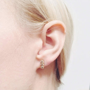 The Simple Line of Diamonds Earring