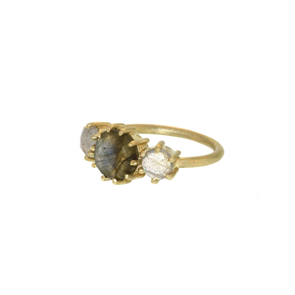 The Labradorite Three Stone Ring