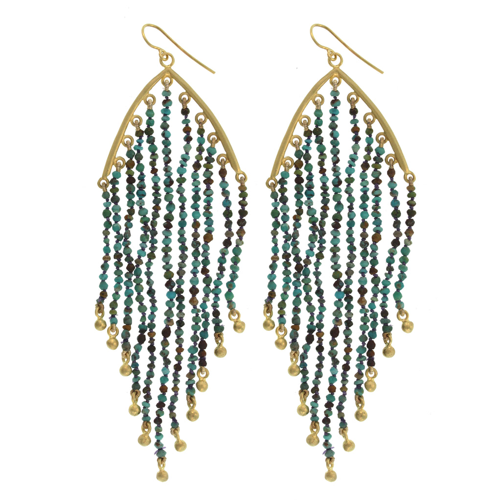 The Turquoise Feather Earring