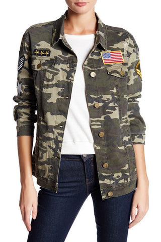Ashley Mason Camo Patch Jacket