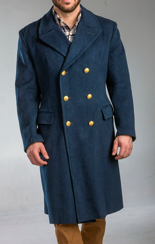 Aeronautica Militare Officer's Wool Blue Overcoat