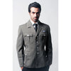 Gray Officer Military Style Blazer