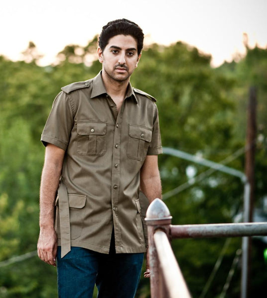 Brown Safari Style Shirt