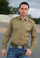 Button-up Khaki Military Style Shirt