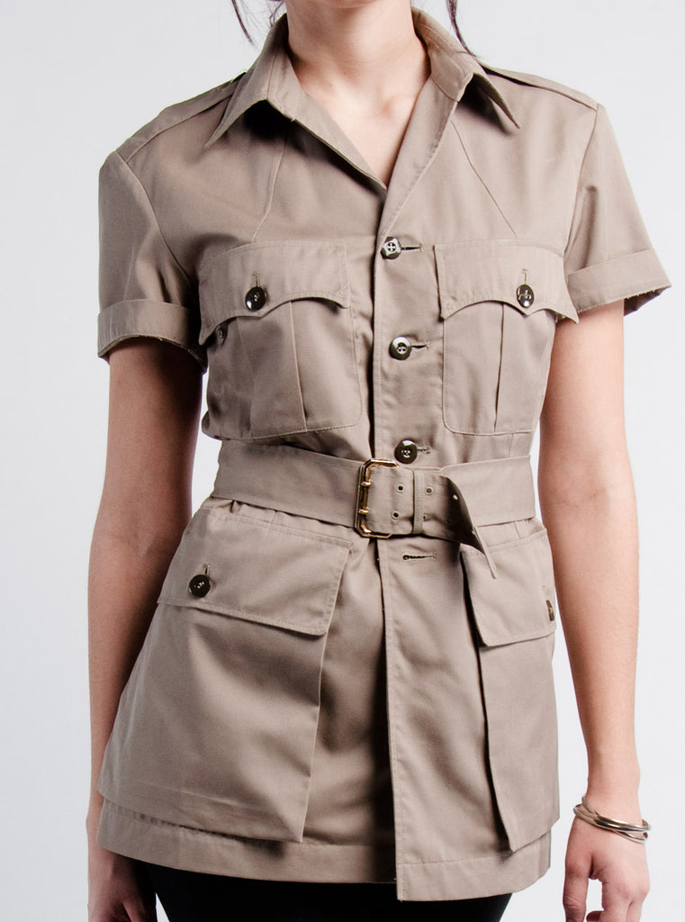 Khaki RAF Short Sleeve Shirt