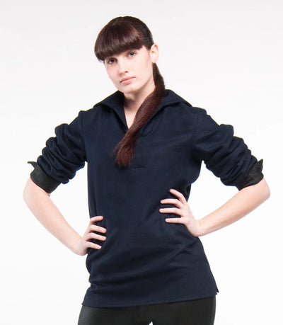 Navy Blue Wool Middy Sweater