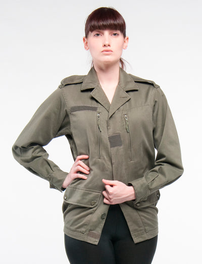 Army Green Vertical Pocket Jacket