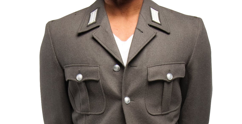 Army Gray Wool  4 Pocket Jacket
