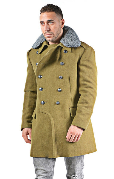 Re-Designed Eastern Bloc Military Khaki Overcoat