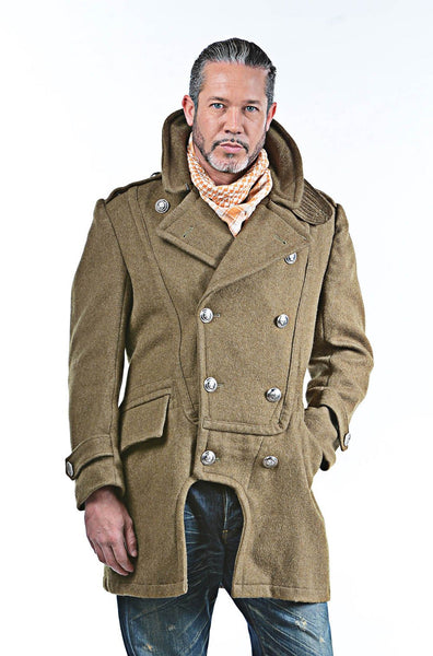 Re-Designed Hellenic Army Brown  Greatcoat